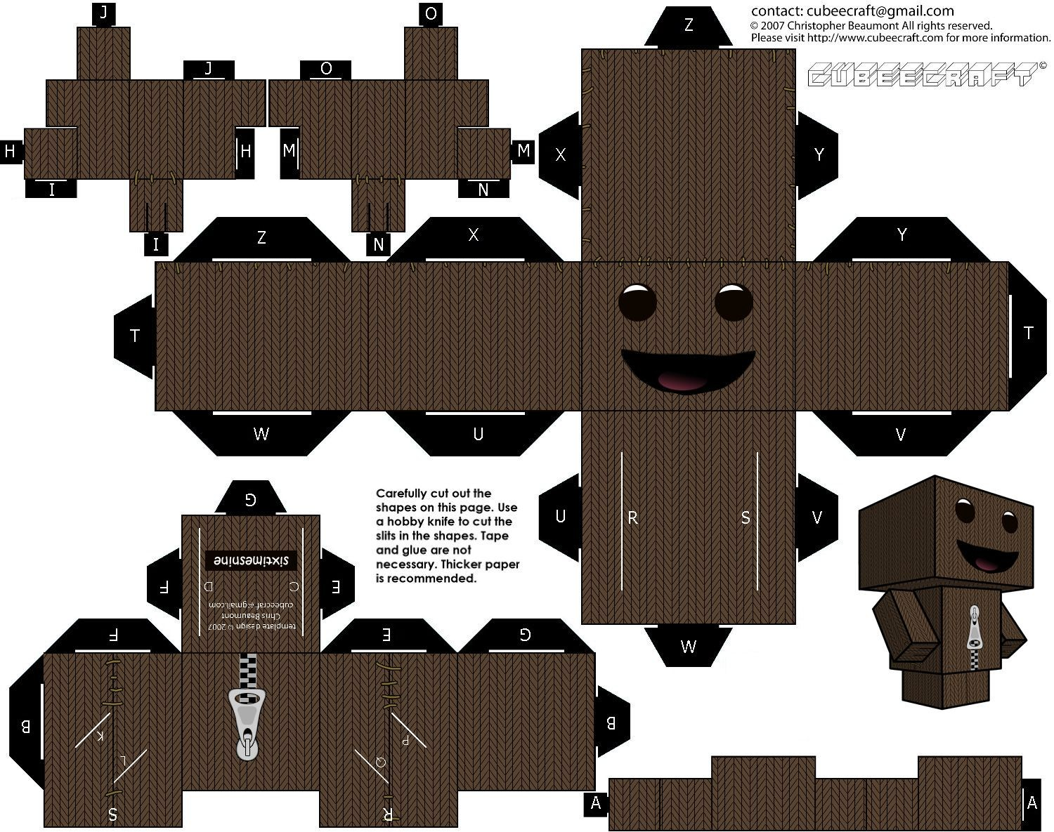 Sackboy Papercraft Papercraft Sackboy Paper Crafts T Papercraft and Craft