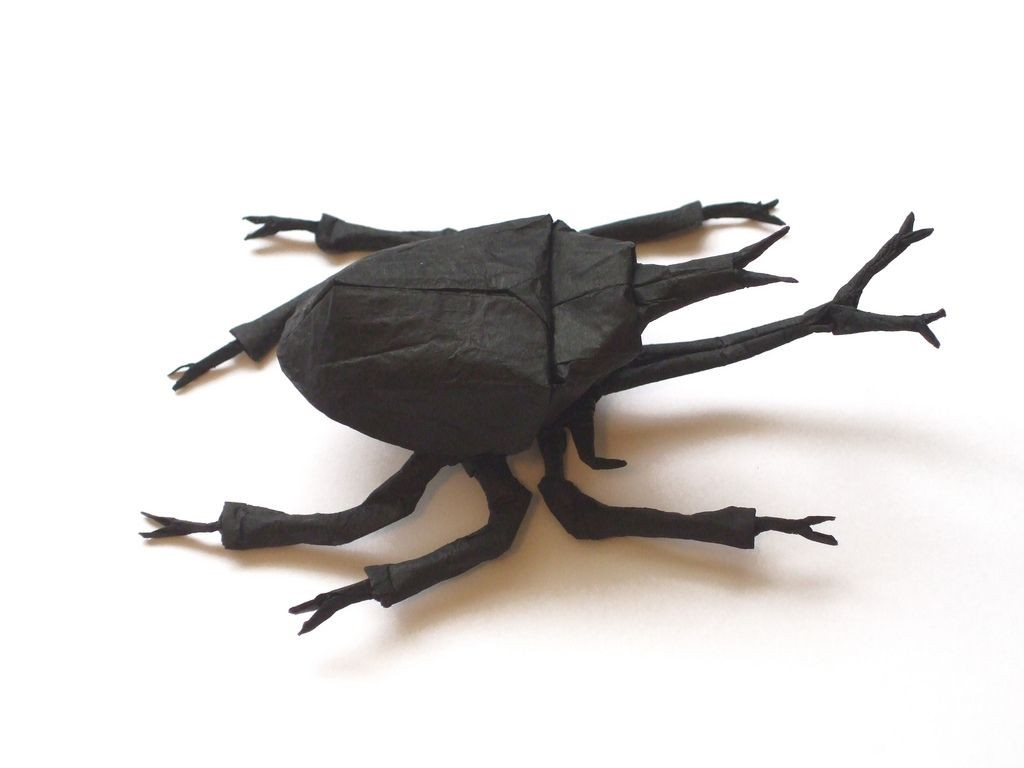 Samurai Papercraft Samurai Helmet Beetle