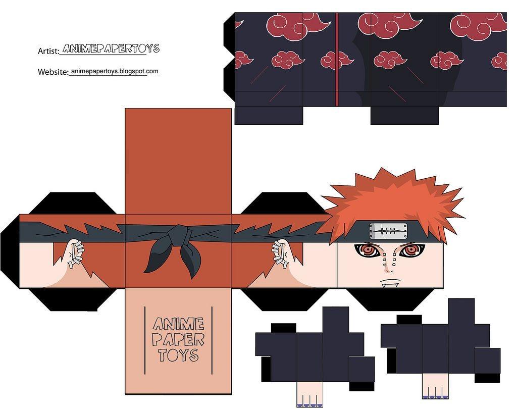 Sasuke Papercraft Mu±ecos Armables De Anime Figuras De Papel Armables
