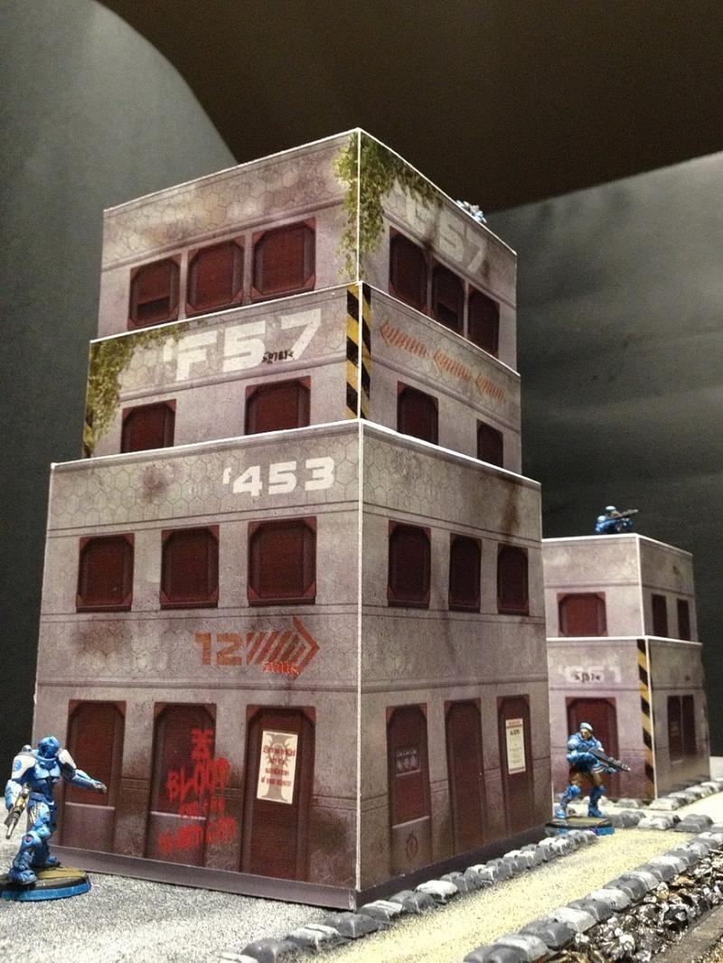 Sci Fi Papercraft Buildings City Infinity Paper Sci Fi Style Buildingsfrom