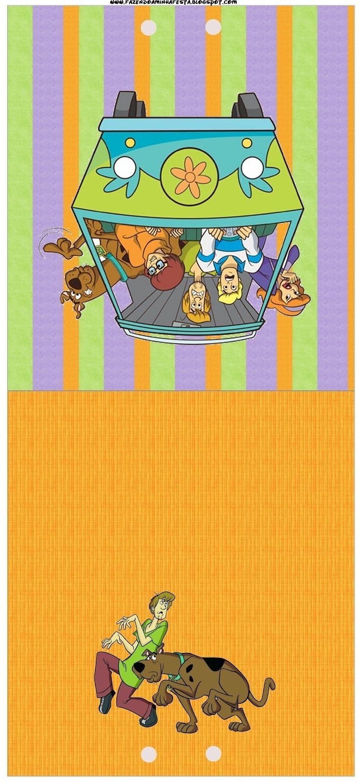 Scooby Doo Papercraft Scooby Doo Kit Pleto Molduras Para Convites R³tulos Para