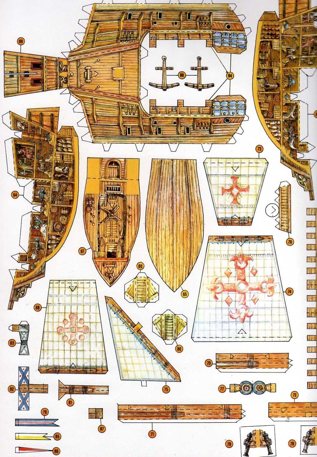 Ship Papercraft Znalezione Obrazy Dla Zapytania Naval Port Paper Model