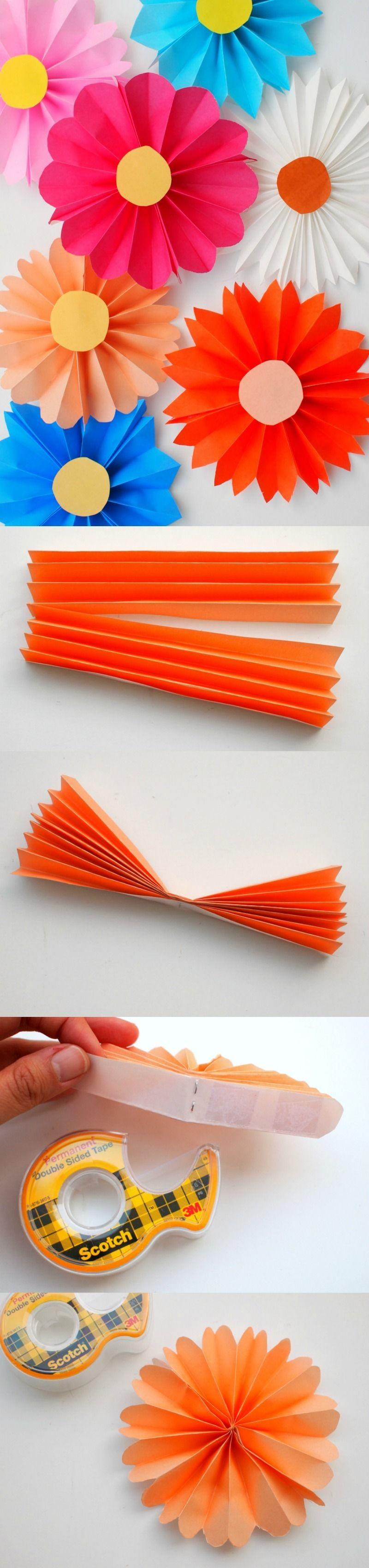 Simple Papercraft Accordion Paper Flowers Craft Diy Pinterest