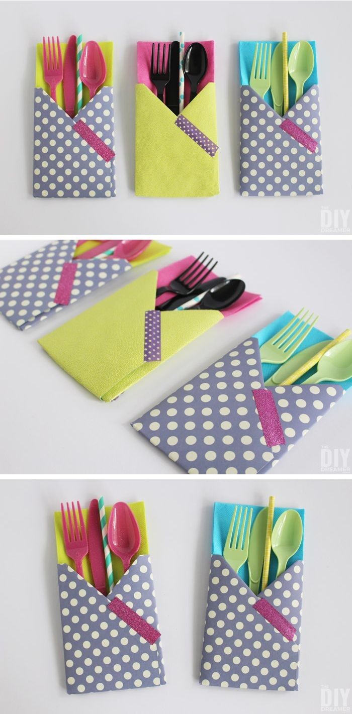 Simple Papercraft Crafting with Paper Diy Utensil Holders