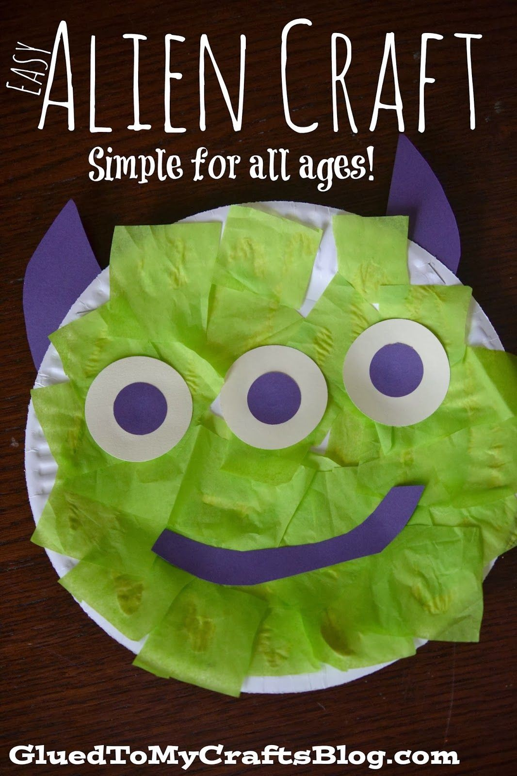 Simple Papercraft Easy Paper Plate Alien Kid Craft In 2018