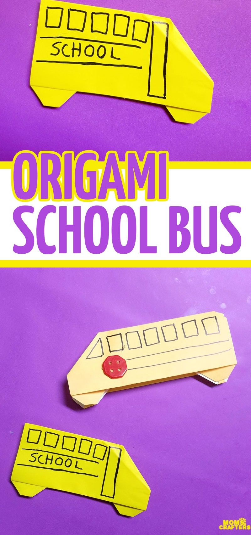 Simple Papercraft Make An Easy origami School Bus