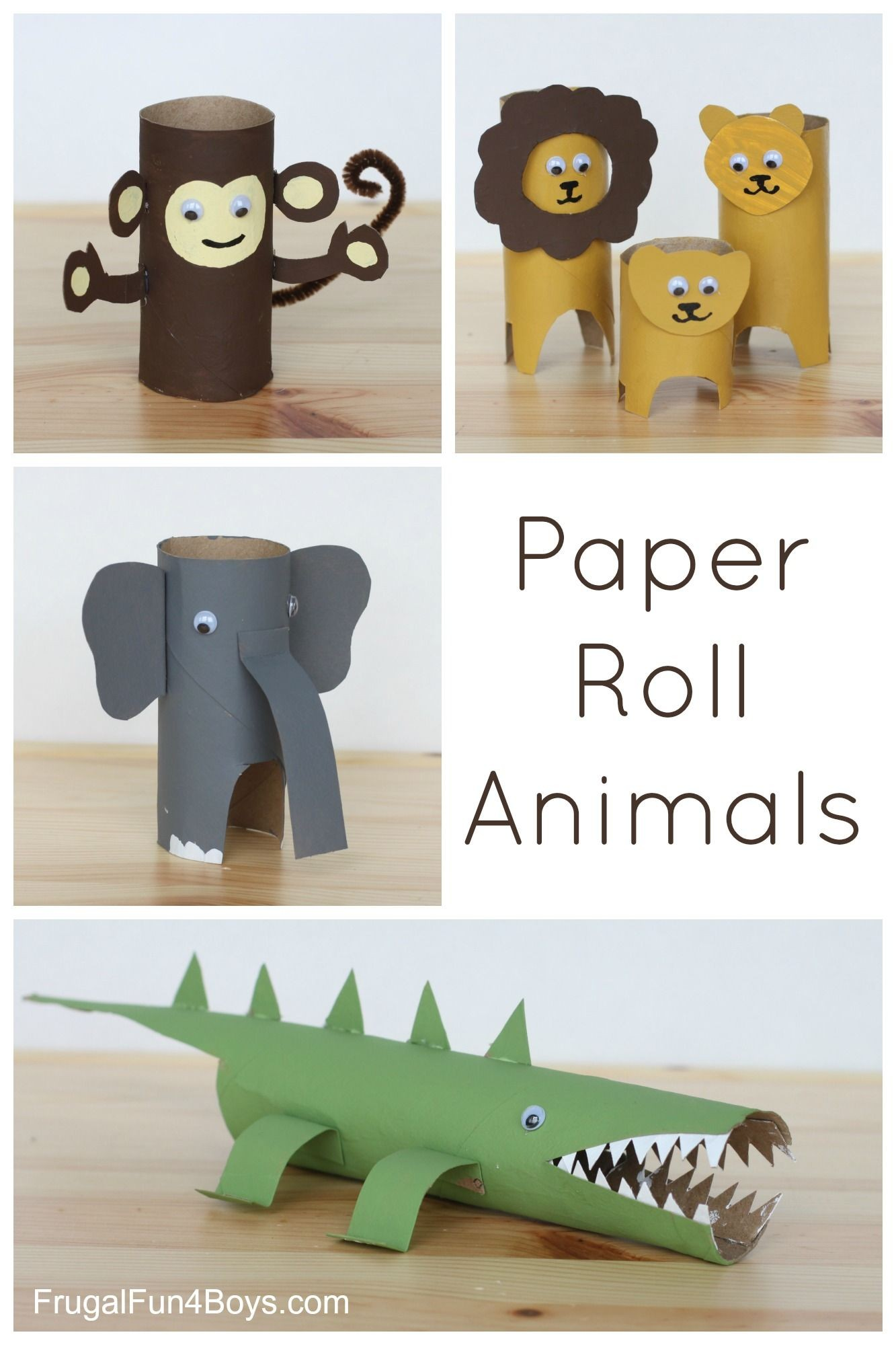 Simple Papercraft Paper Roll Animals for the Kid S Pinterest