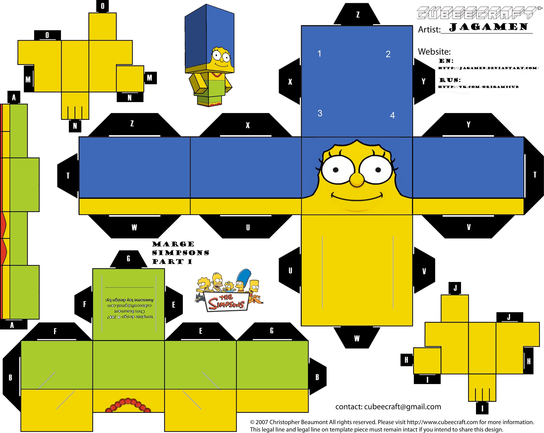 Simpsons Papercraft Part 1 Of 2 Montar Pinterest