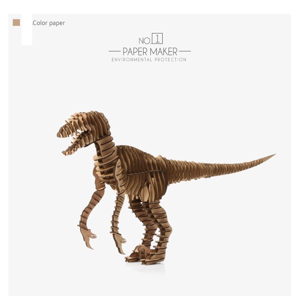Skeleton Papercraft Aliexpress Buy 3d Puzzle Dinosaur Diy Raptor Model Paper Craft