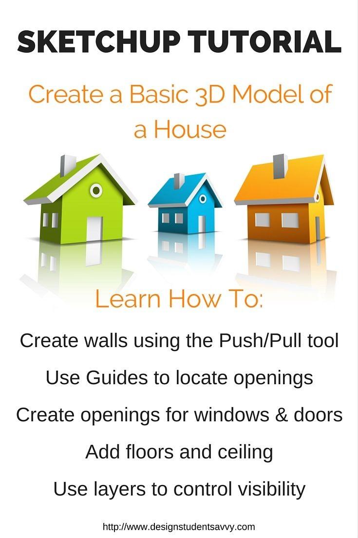 Sketchup Papercraft 54 Best Uni Maker Space 3d Modeling Images On Pinterest
