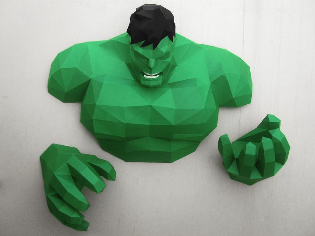 Sketchup Papercraft Hulk On the Wall Design by Iluiztrar Hulkhogan