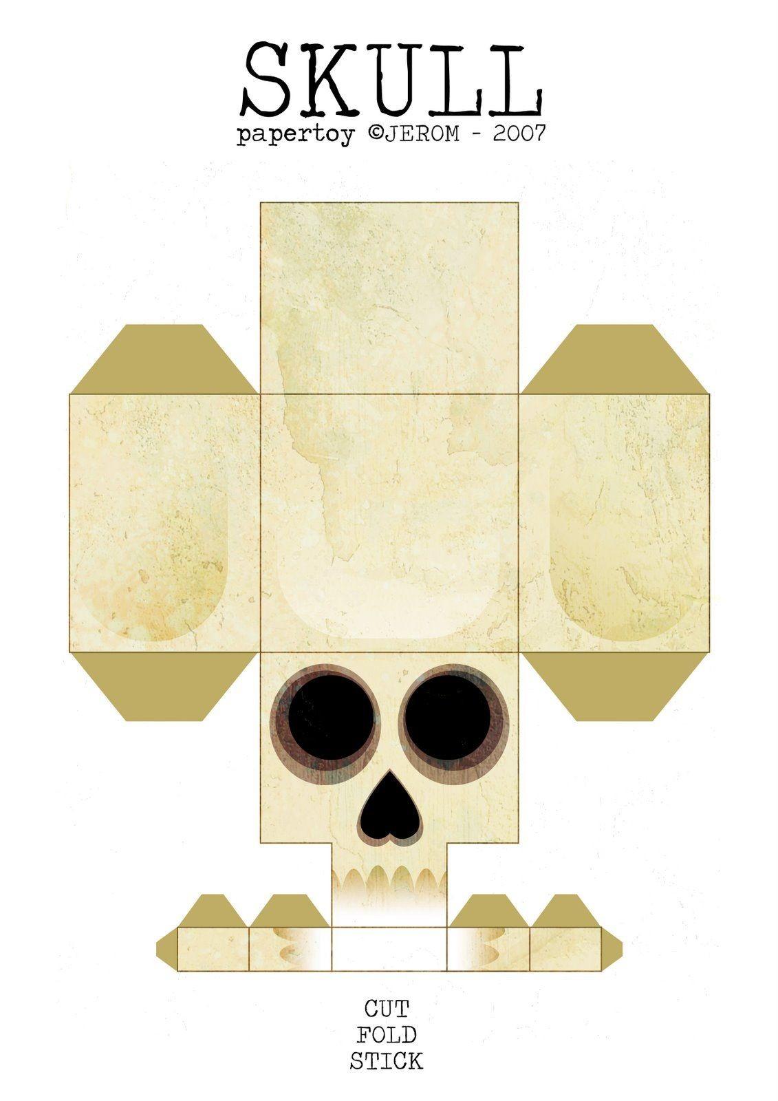 Printable Skull Papercraft