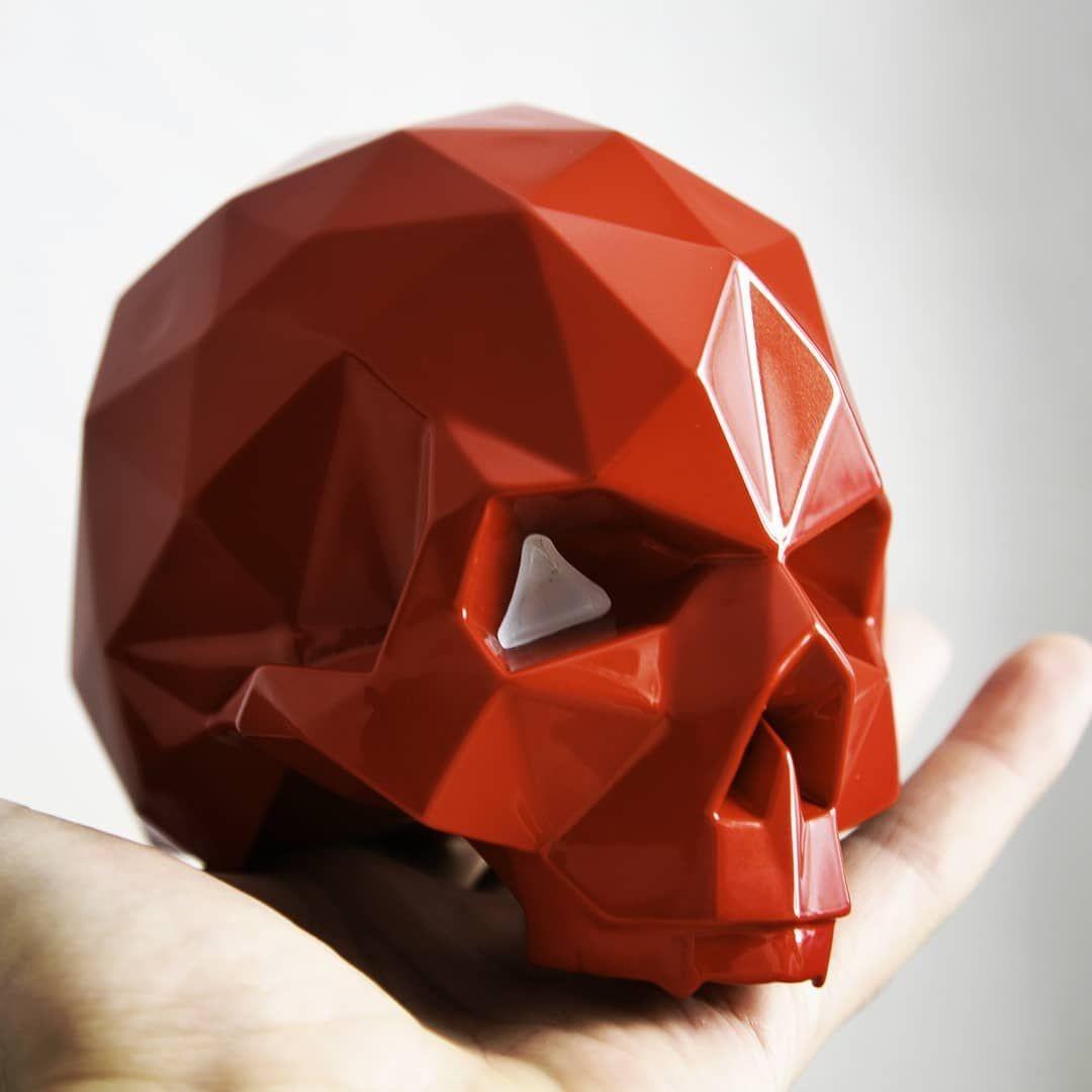 Skull Papercraft Papercraft Pepakura Skull Hardskull Lowpoly Lowpolydesign