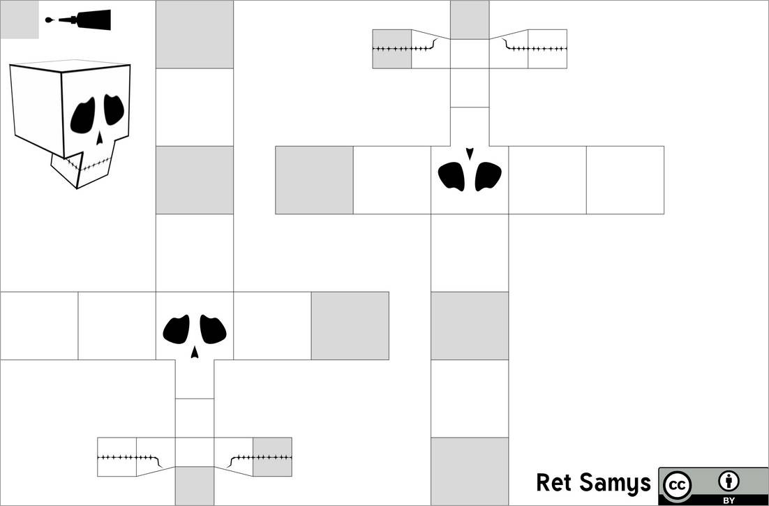 Skull Papercraft Papercraft Skull Template
