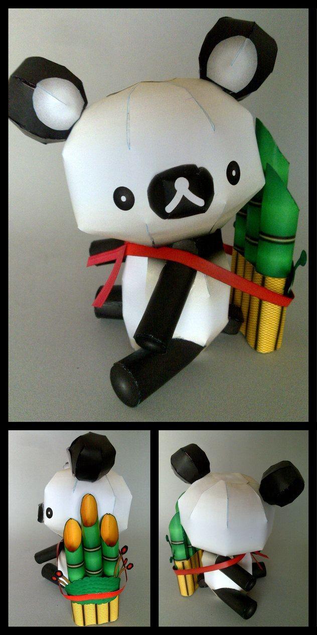 Snake Papercraft Rilakkuma Panda Version Pcraft by Ikarusmedia
