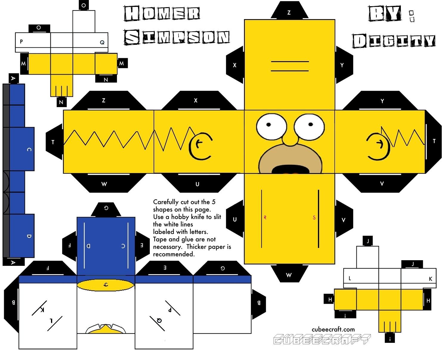 South Park Papercraft Cube