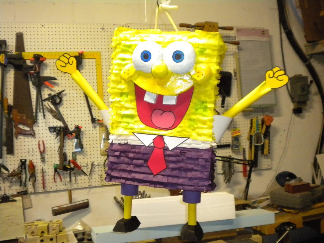 Spongebob Papercraft Spongebob Schwammkopf Pinata Gunook
