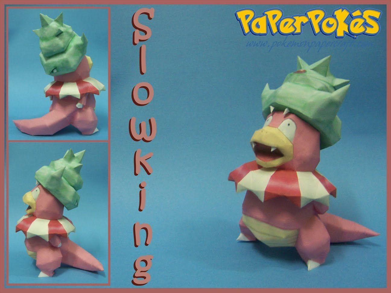Squirtle Papercraft Slowking Papier Maché Pokémon Pinterest