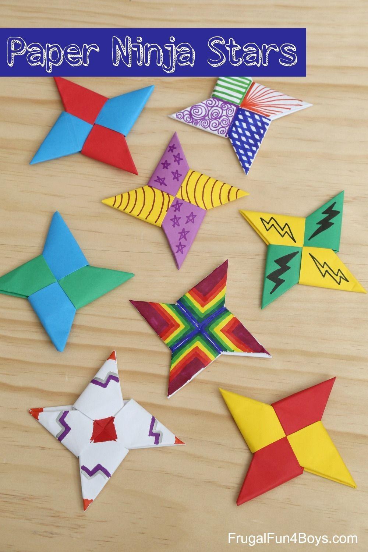 Star Fox Papercraft How to Fold Paper Ninja Stars