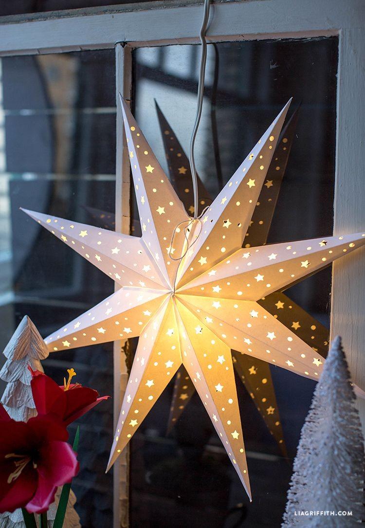 Star Papercraft Diy Paper Star Window Decoration Holidays Pinterest