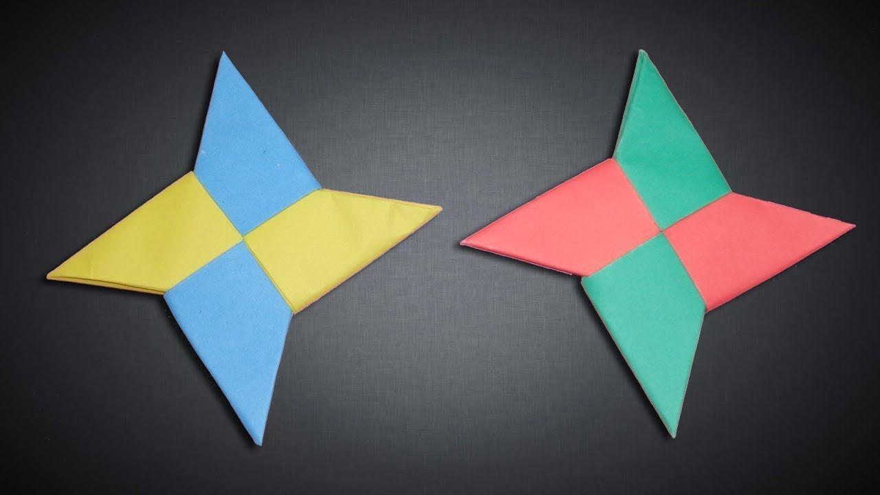 Star Papercraft How to Make Four Blades Paper Ninja Star [shuriken] Diy origami