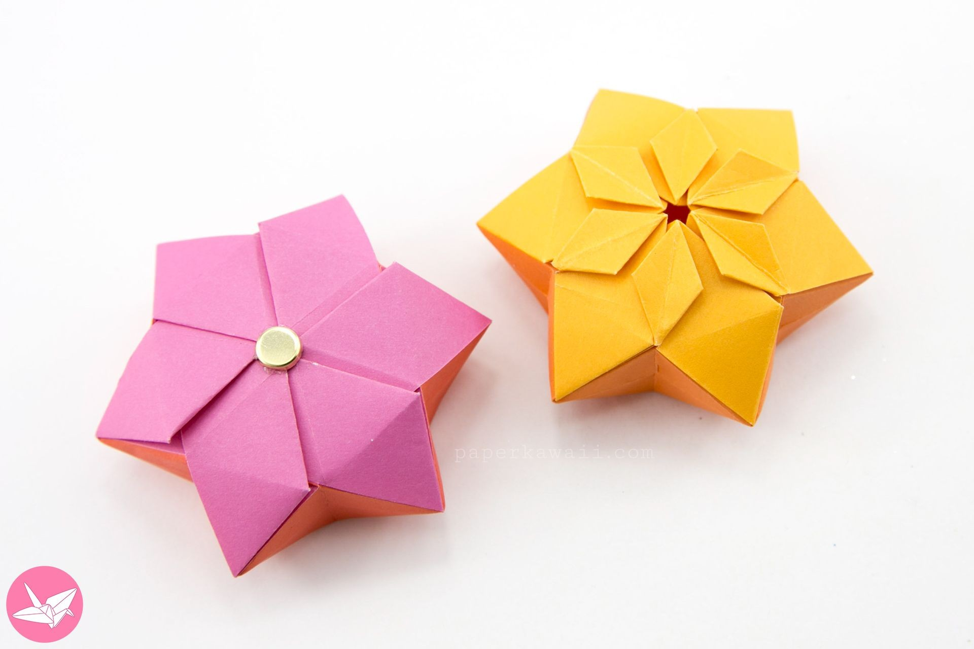 Star Papercraft origami Hexagonal Puffy Star Tutorial