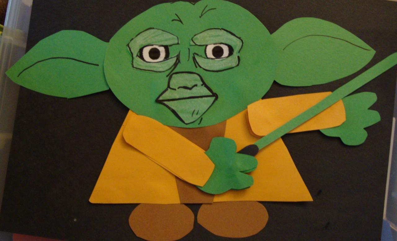 Starwars Papercraft Yoda Papercraft Einfach 2 D Gunook