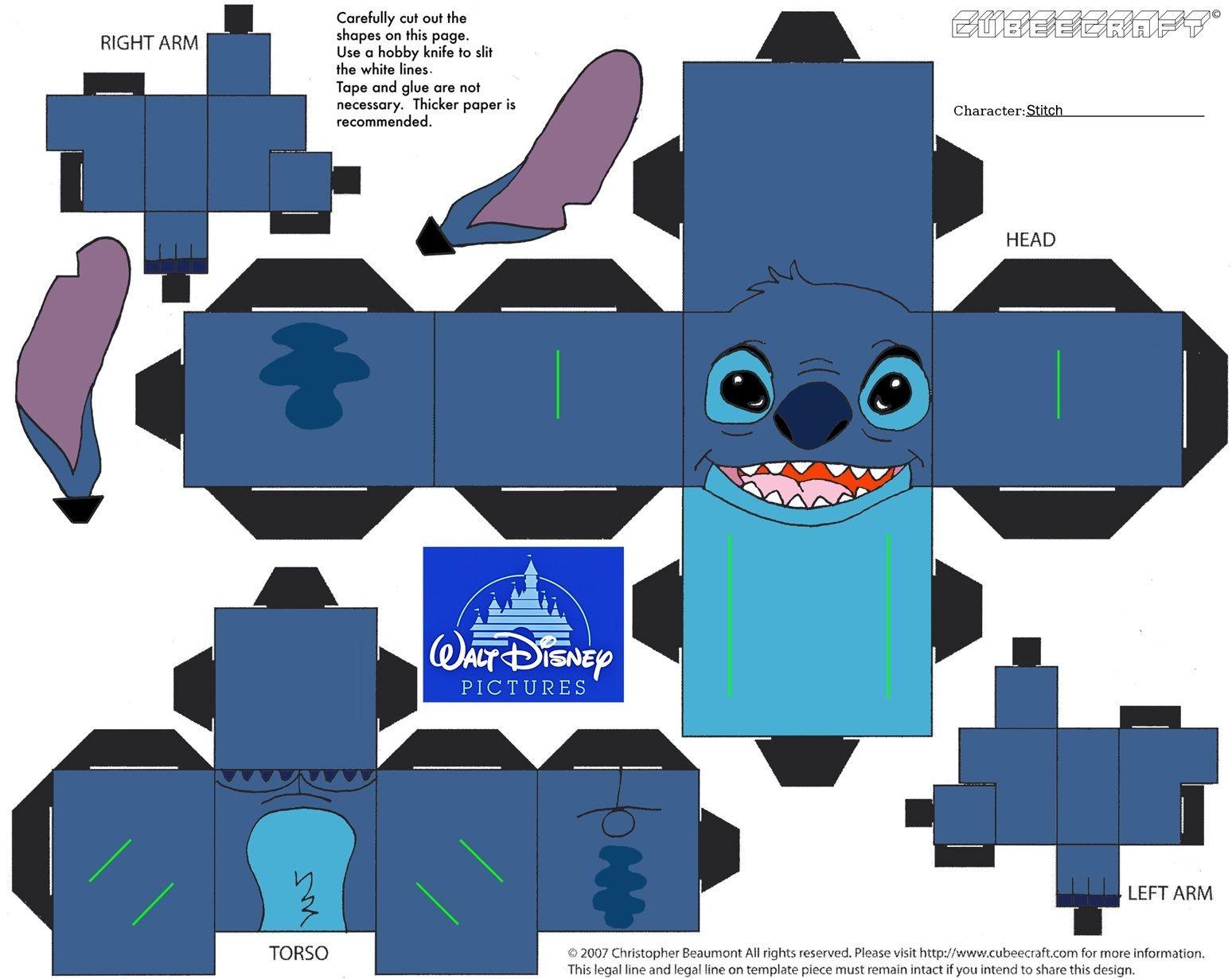 Stitch Papercraft Stitch Cubecraft Papercraft Pinterest