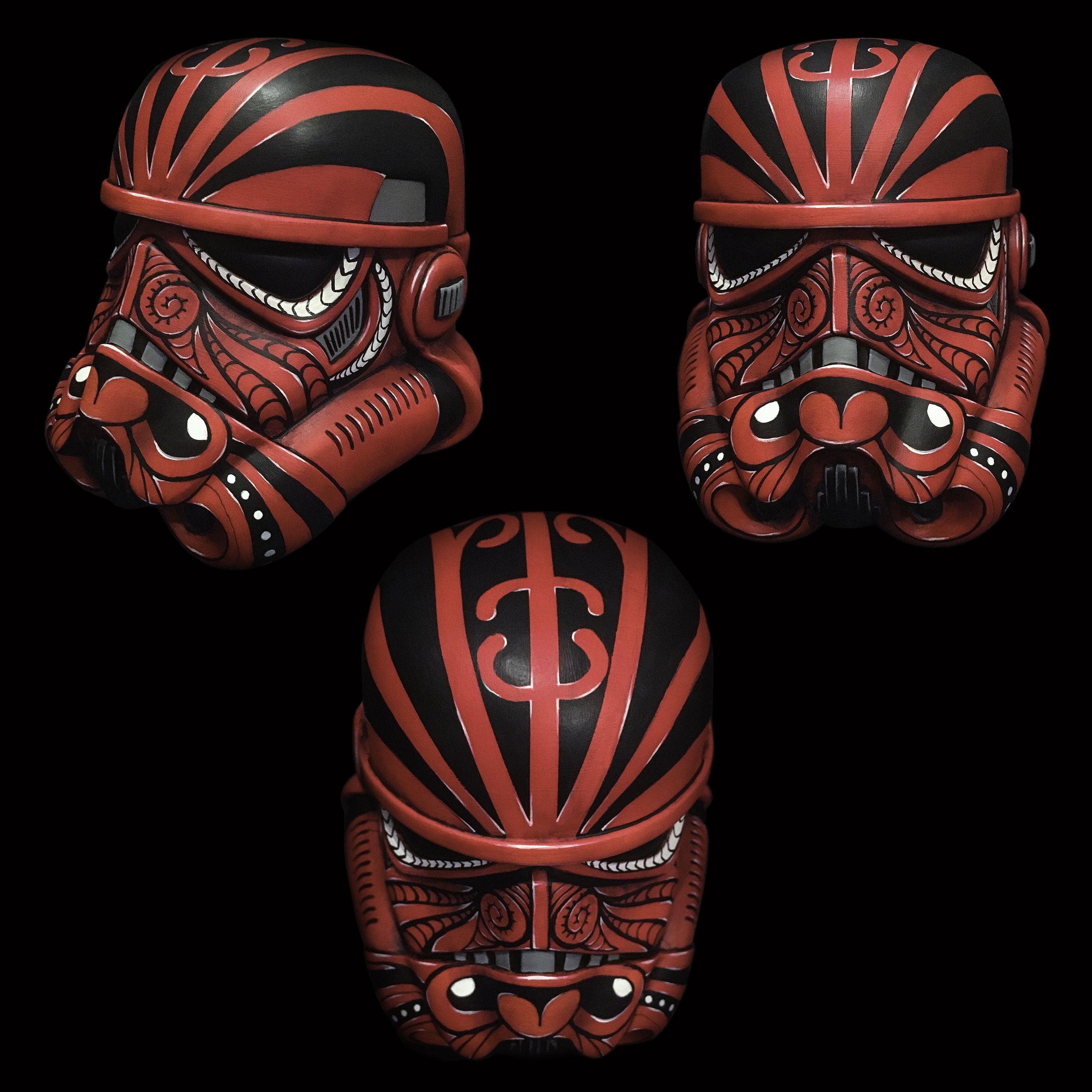 Stormtrooper Helmet Papercraft Star Wars Stormtrooper Helmet Moko Maori Tattoo Mokotrooper