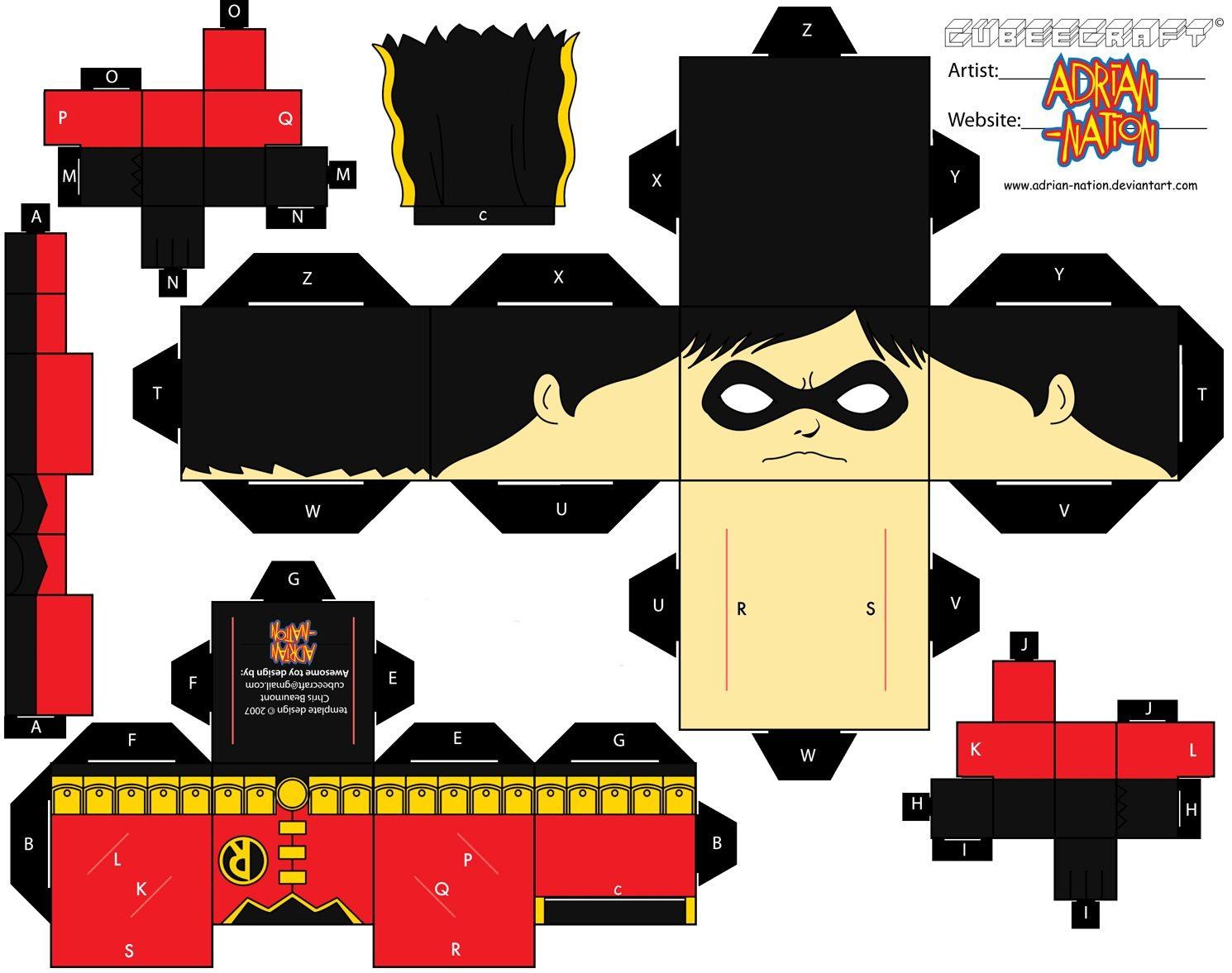 Superhero Papercraft Imagenes Para Recortar Y Armar Muy Bueno