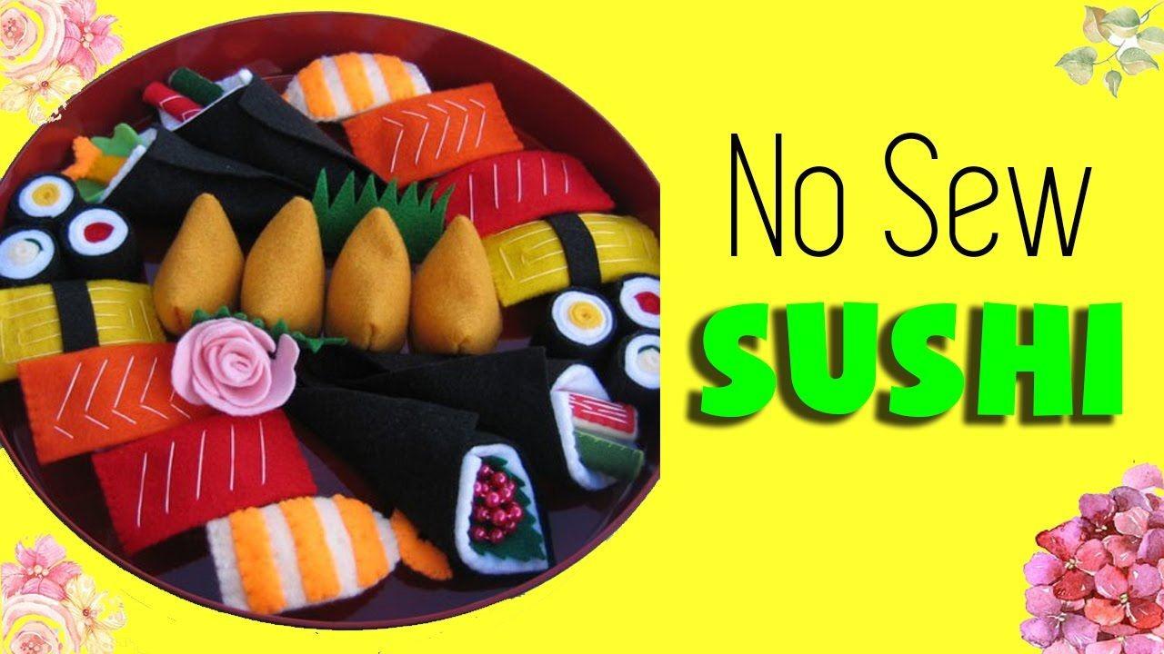 Sushi Papercraft Diy Sushi Plush How to Make Easy Room Decor Diy No Sew