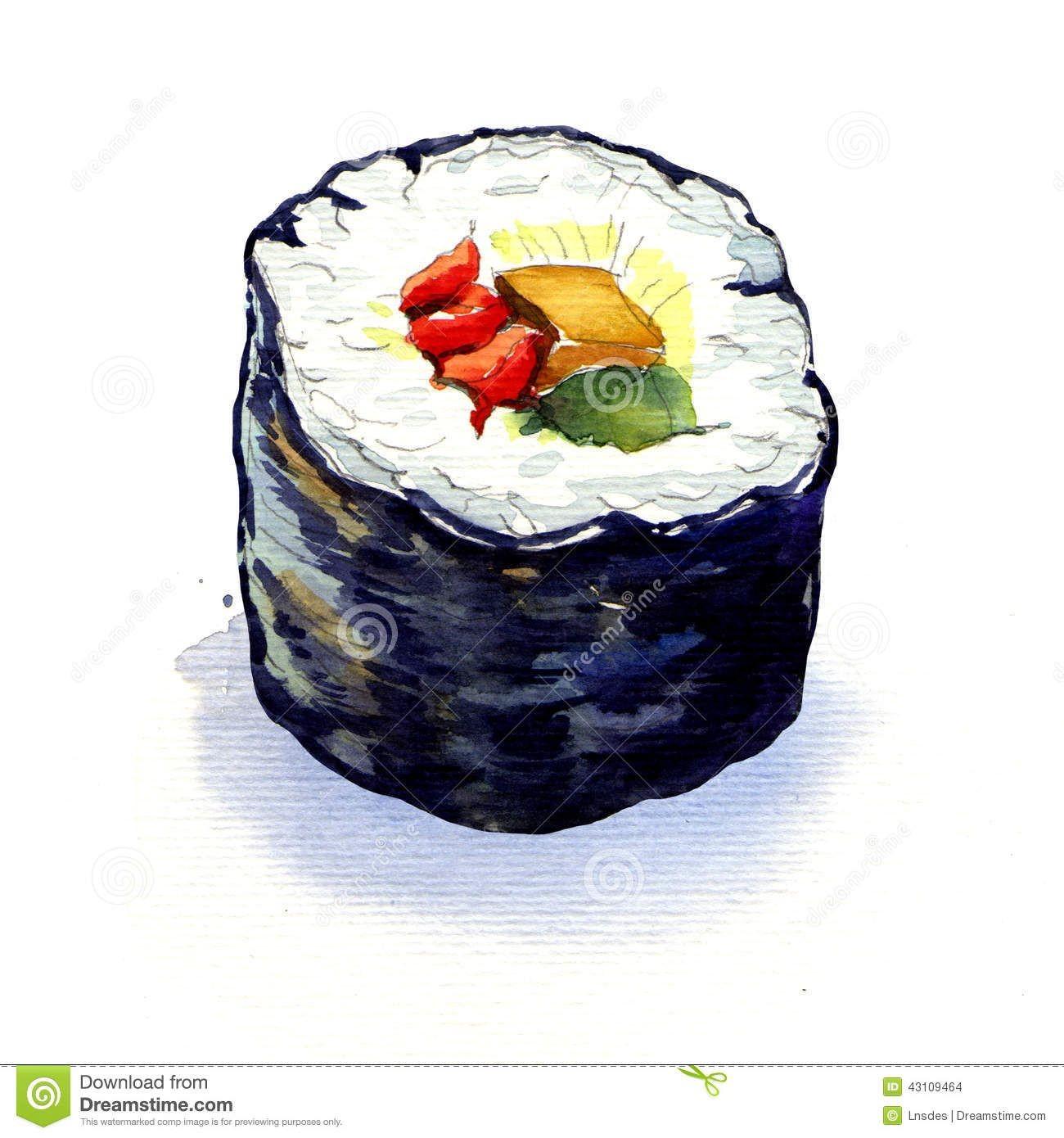 Sushi Papercraft Japanese Watercolor Sushi Google Search Sushi Game