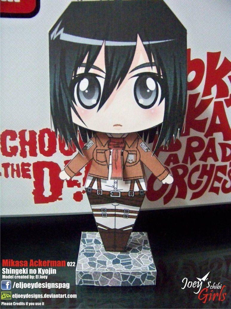 Sushi Papercraft Mikasa Ackerman Papercraft by Eljoeydesignsviantart On