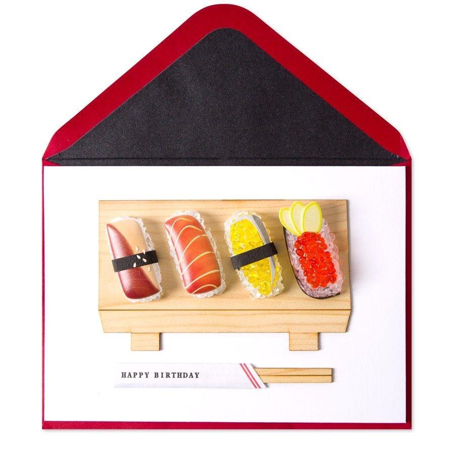 Sushi Papercraft Birthday Card Papyrus Cards Pinterest