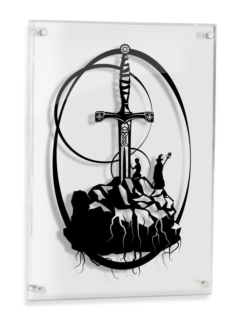 Sword Papercraft Excalibur Caliburn Merlin Artwork King Arthur Legendary Sword In