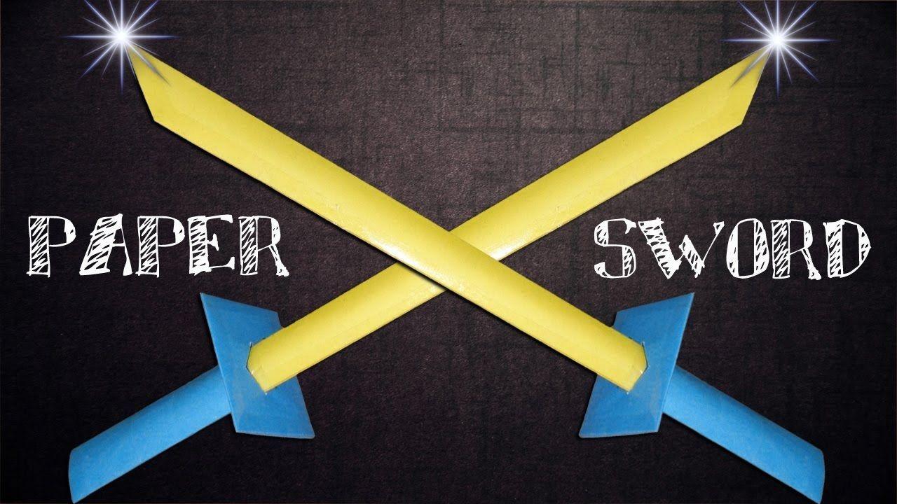 Sword Papercraft How to Make A Paper Sword Like Ninja Samurai