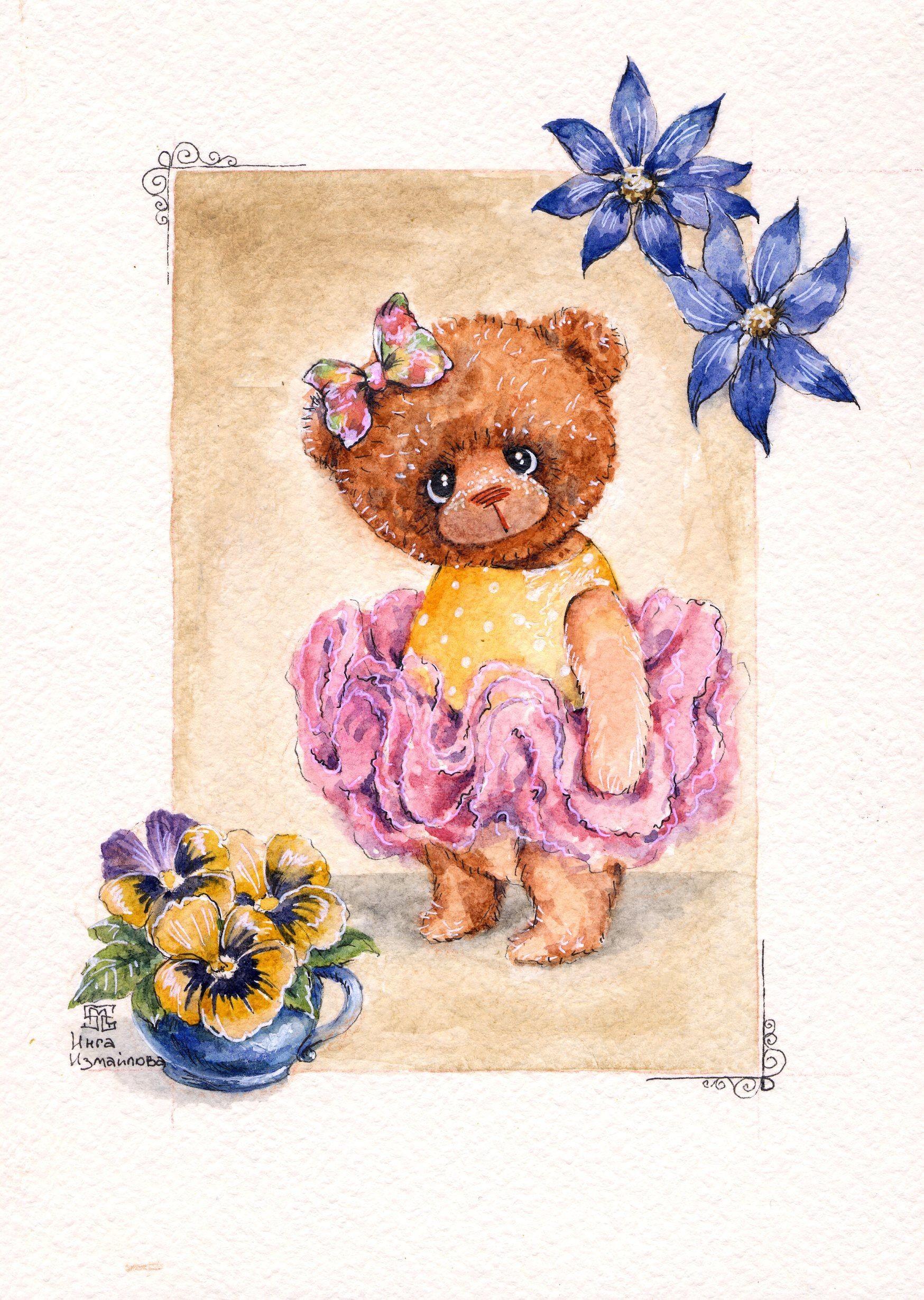 Teddy Bear Papercraft по мотивам работ НеРРи СвитеРьской Bears Dolls toys Watercolor