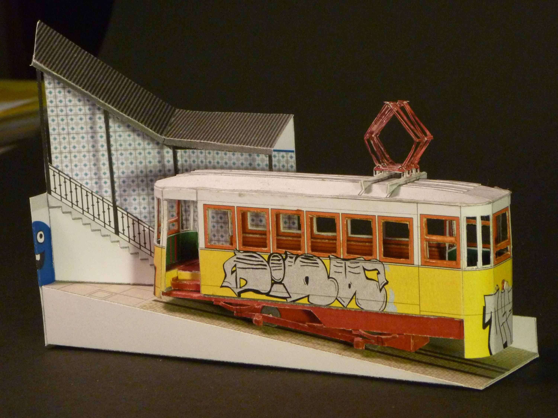 """Titanic Papercraft Lissabon Tram """"paper Model"""""""
