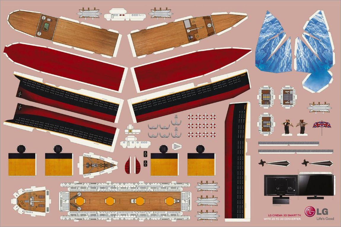 Titanic Papercraft Rms Titanic Papercraft