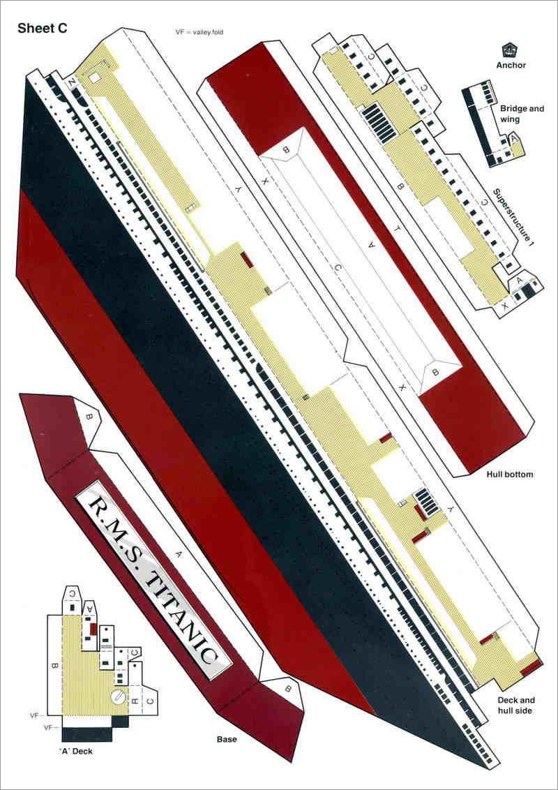 Titanic Papercraft Titanic Paper Model Free Download