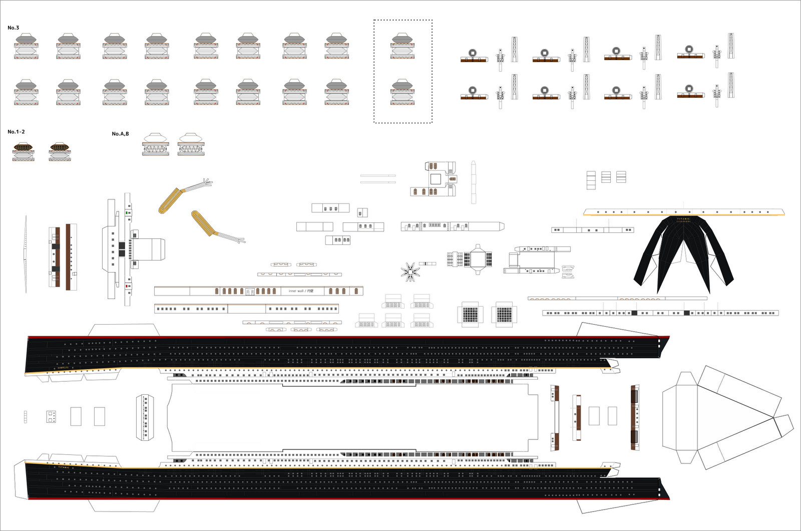 Titanic Papercraft Titanic Papercraft Model Download