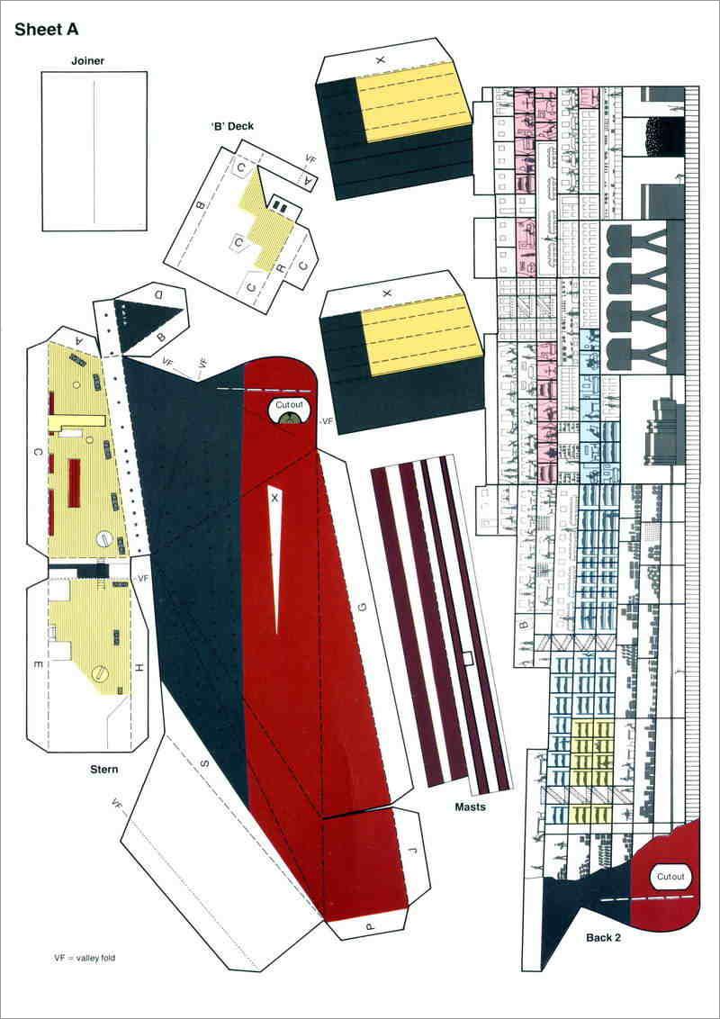 Titanic Papercraft Titanic Papercraft Model Free