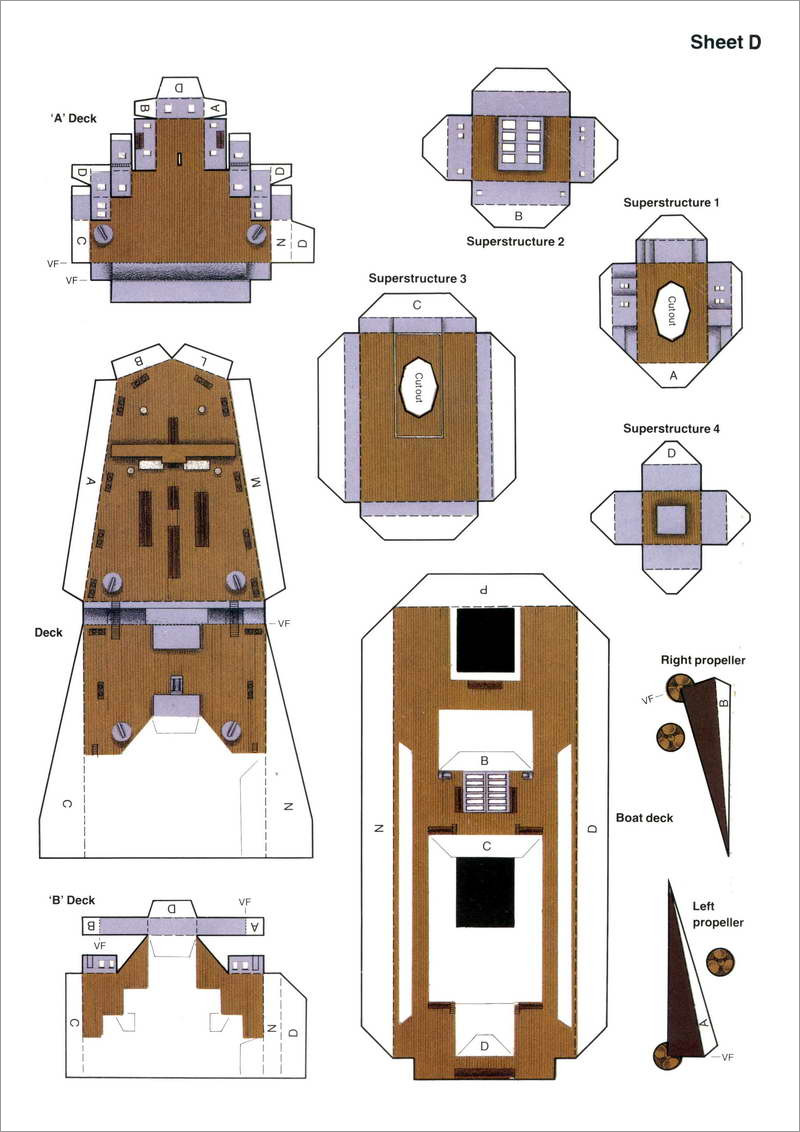 Titanic Papercraft Titanic Papercraft Model