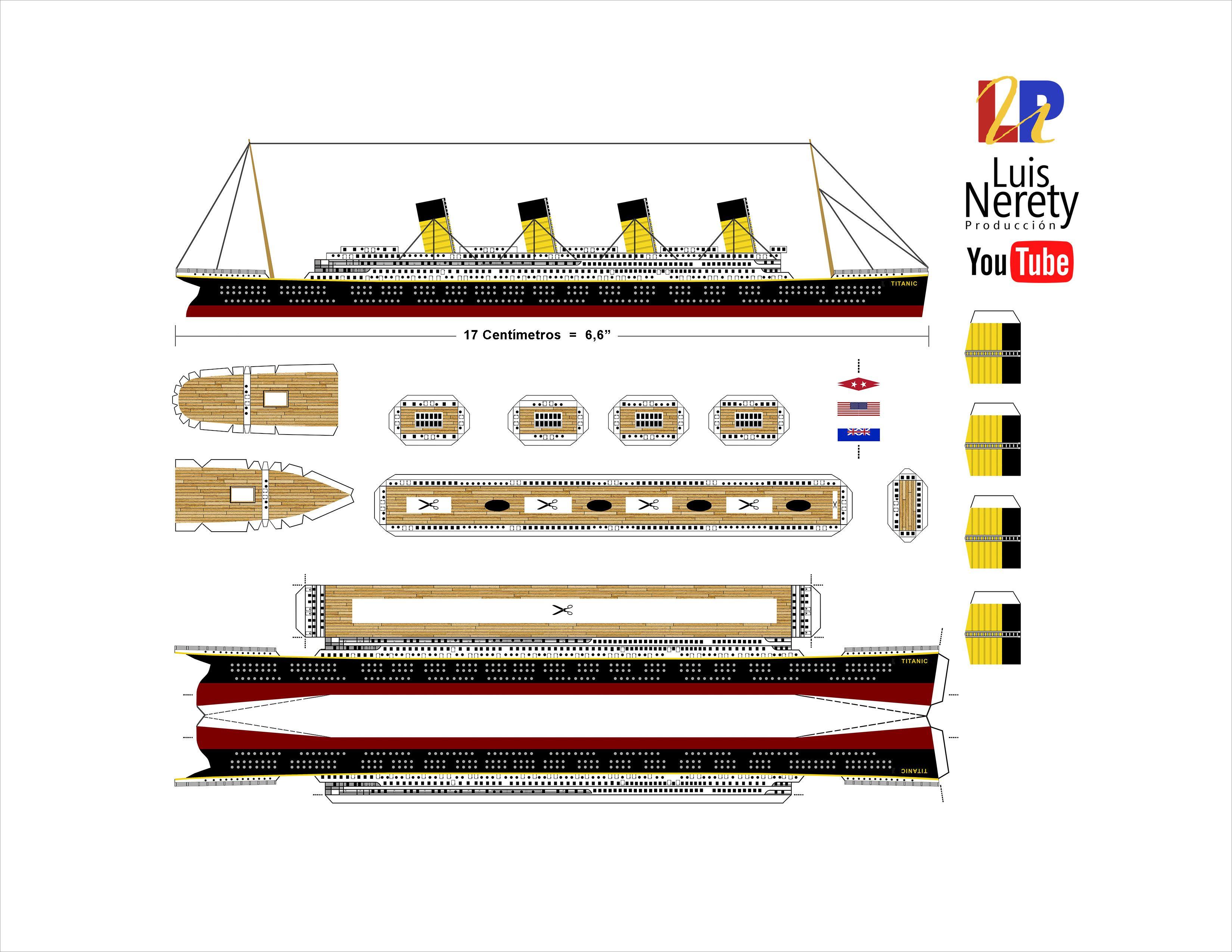 Titanic Papercraft Titanic Papercraft Template Download