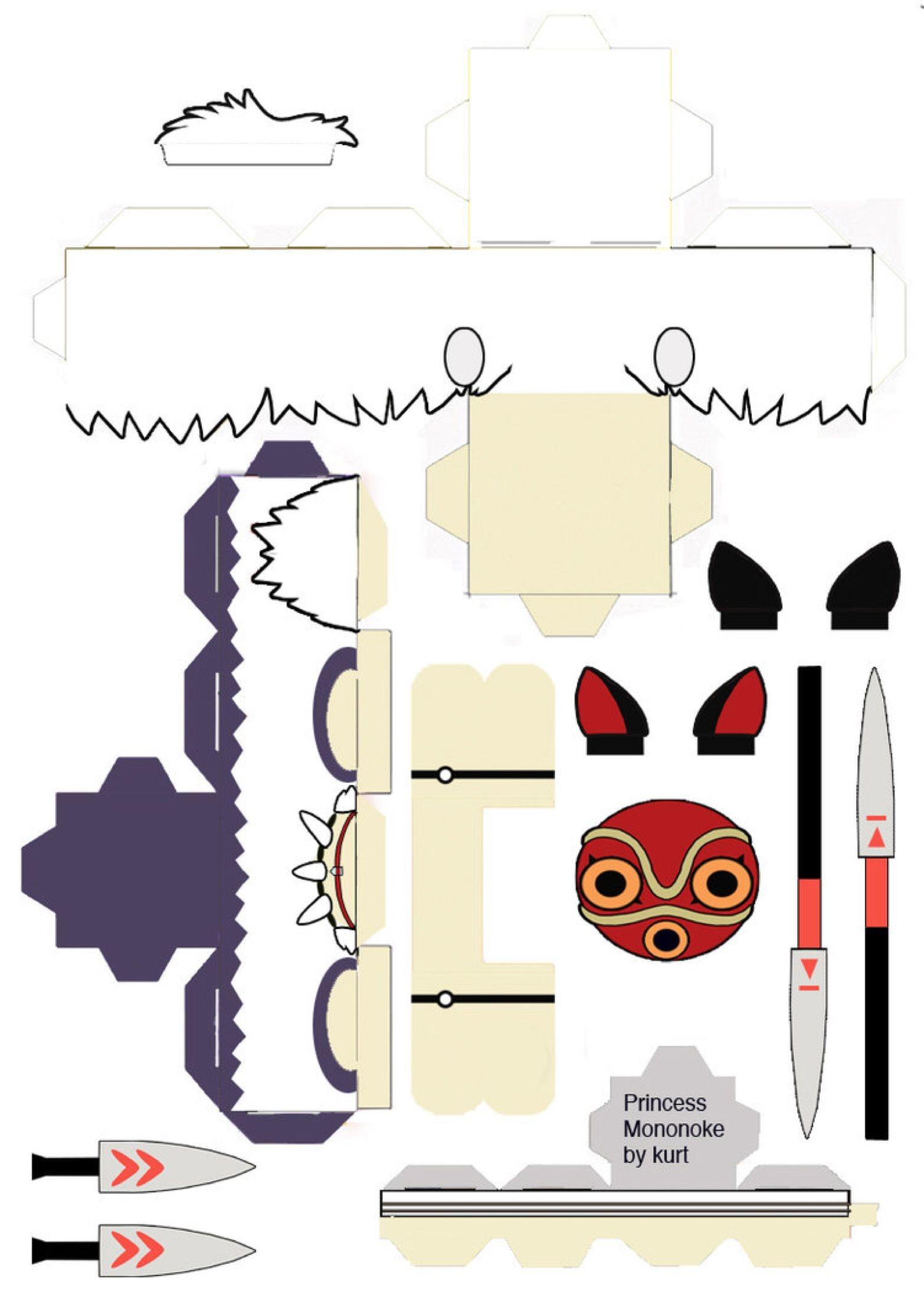 Printable totoro Papercraft