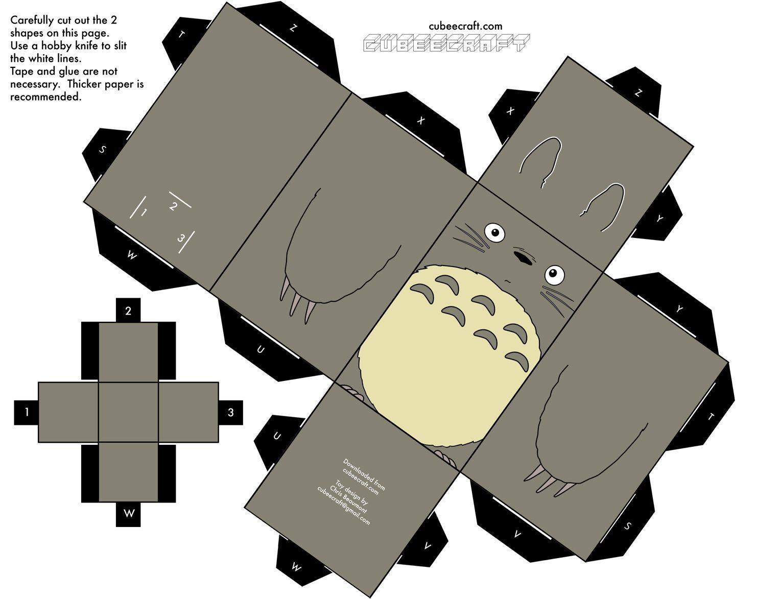 Totoro Papercraft Résultats Google Recherche D Images Correspondant