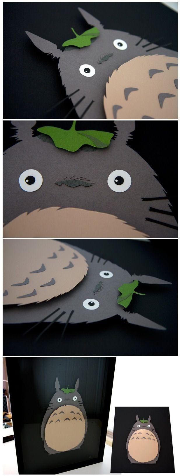 """Totoro Papercraft totoro"""" Studio Ghibli 3d Hand Cut Paper Craft by Pigg"""