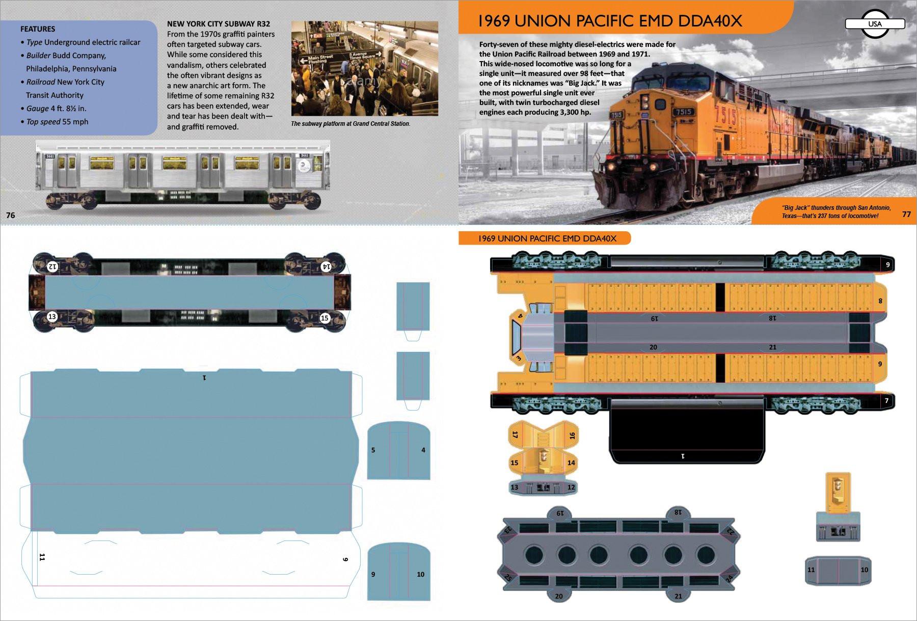 Train Papercraft 1969 Union Pacific Emd Dda40x Train Papercraft