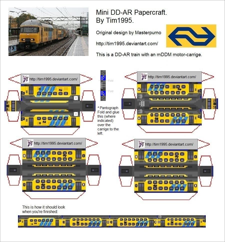 Train Papercraft Mini Dd Ar Train Papercraft by Tim1995