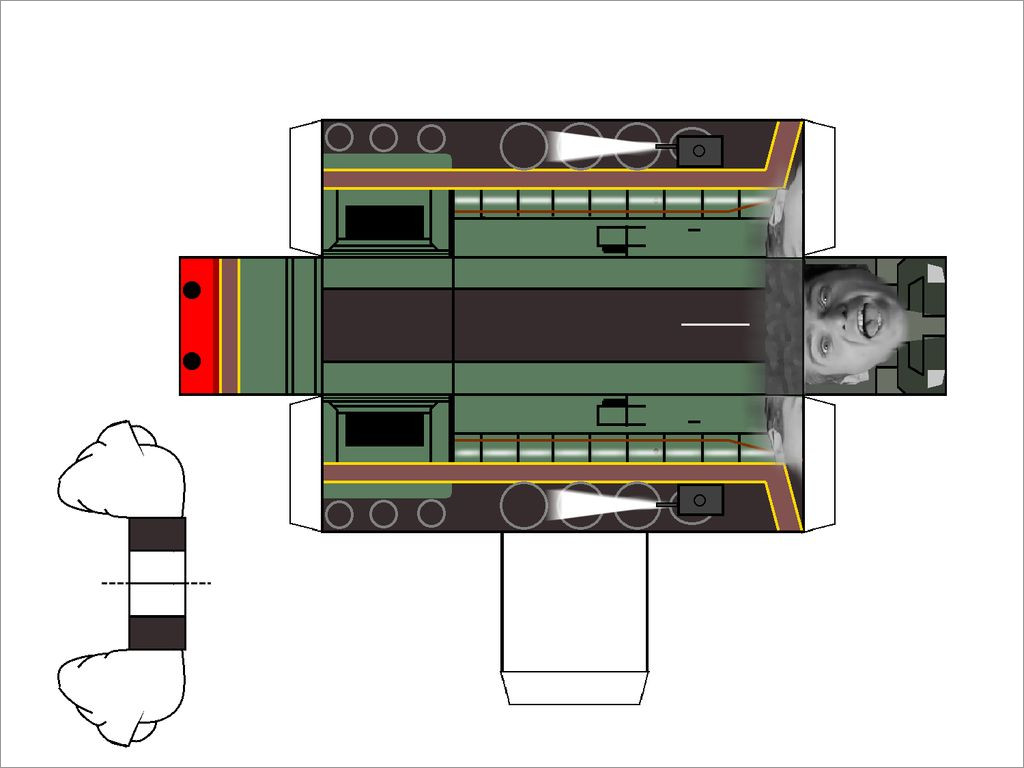 Train Papercraft Peter Gabriel Steam Train Papercraft by Grapefruitface1